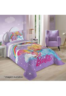 Edredom Barbieâ® Reinos Mã¡Gicos Solteiro- Lilã¡S & Pink