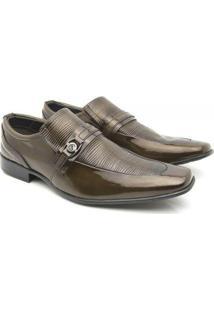 Sapato Social Venetto Classic Elegant - Masculino-Marrom-Claro