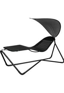 Cadeira Com Parasol Aço E Textilene Saint Martin 9136 Mor