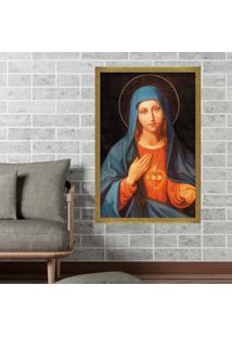 Quadro Love Decor Com Moldura Nossa Senhora Dourado Médio