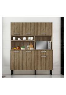 Armário Para Cozinha 6 Portas 1 Gaveta Itatiaia Móveis I1 Castanho