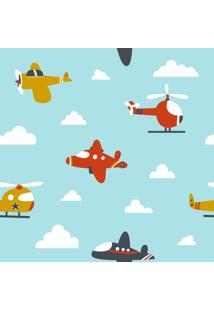 Papel Adesivo Sunset Adesivos De Parede Infantil Aeronaves - Rolo 6,00 X0,50 M