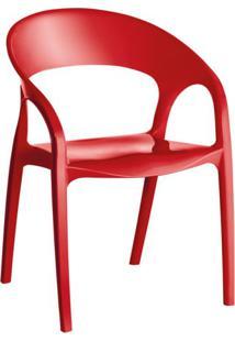 Cadeira De Plástico Glass Vermelha