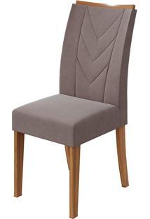 Cadeira Atacama Velvet Rosê Rovere Naturale