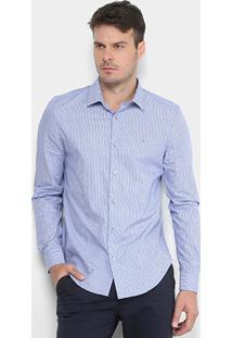 Camisa Calvin Klein Slim Monte Carlo Simples Masculina - Masculino