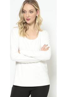 Blusa Lisa Acamurçada - Off White - Morena Rosamorena Rosa