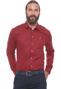 Camisa Forum Reta Smart Bordô