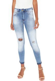 7e45ab5b6 R$ 149,97. Dafiti Calça Jeans Biotipo Skinny Destroyed Azul