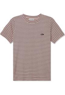 Camiseta Lacoste Listrada Rosa - Kanui