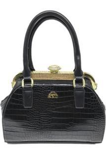 Bolsa Casual Sys Fashion 8545 Feminina - Feminino-Preto