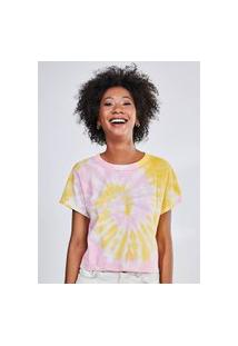 Camiseta Cropped Tie Dye Peace
