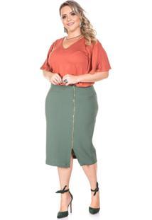 Blusa Domenica Solazzo Telha Plus Size - Tricae