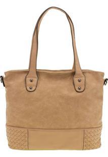 Bolsa Feminina Arara Dourada - T245 Bege