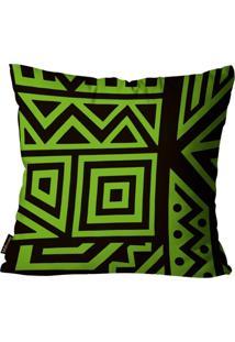 Capa Para Almofada Premium Cetim Mdecore Geométrica Verde 45X45Cm