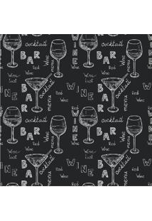 Papel De Parede Adesivo Wine And Cocktail (2,50M X 0,58M)