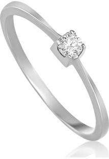 4267cb5631fa1 Monte Carlo. Anel Solitario Em Ouro Branco 18k Com Diamante ...