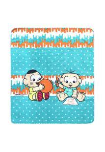 Cobertor Bebê Masculino Cebolinha E Cascão Baby Verde (90X110Cm) - Turma Da Mônica - Tamanho Único - Verde