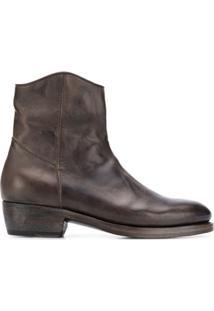 Ajmone Ankle Boot Clássica - Marrom