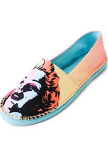 Alpargata Cupcakes Shoes Girl Power - Feminino-Laranja+Azul