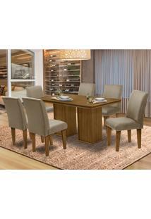 Mesa Para Sala De Jantar Com 6 Cadeiras Amsterdam – Dobuê Movelaria - Mell / Mascavo