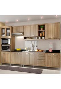 Cozinha Compacta 7 Peças 5834-S17 - Sicília - Multimóveis - Argila Acetinado