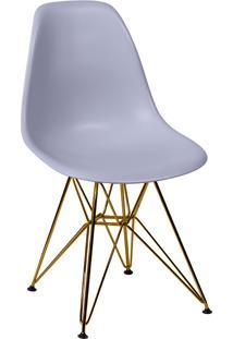Cadeira Com Base Em Cobre 1102-Or Design - Cinza