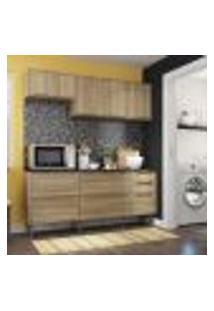 Cozinha Compacta Trevalla Móveis New Paris 8 Portas 3 Gavetas Argila