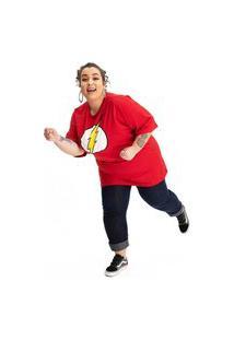 Camiseta Plus Size Flash Logo Clássico Vermelho