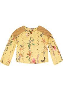 Blusa Dzarm Flores Amarelo