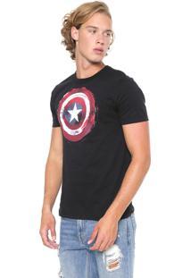 Camiseta Cativa Marvel Capitão América Preta