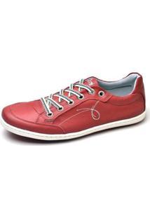 Sapatenis Top Franca Shoes Masculino - Masculino-Vermelho Claro
