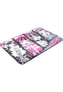 Tapete Jolitex Orient Mattel Turma Monster High Rosa