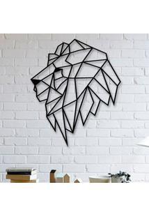 Escultura De Parede A Laser Leão