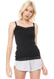 Regata Calvin Klein Underwear Renda Preta