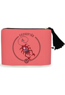 Clutch Nita Faco Escorpião Rosa