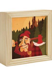 Quadro Decorativo Decohouse Moldura Art Vermelho