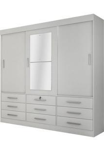 Guarda Roupa Sonare 3 Portas Com Espelho Branco