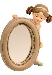 Espelho Decorativo De Resina Bailarina Ii