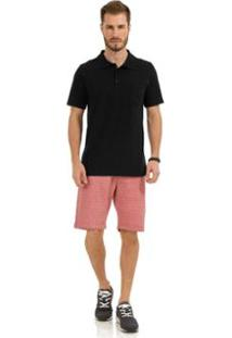 Camisa Polo Rovitex Premium - Masculino-Preto
