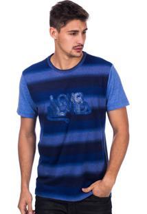 Camiseta Long Island Ld Azul
