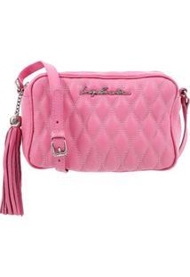 Bolsa Em Matelassê Rosa Pink