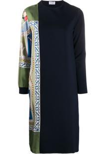 Salvatore Ferragamo Panelled Shift Dress - Azul