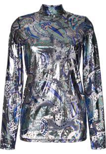 Alice Mccall Blusa Metalizada 'Florette' - Azul