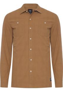 Camisa Masculina Durham - Marrom