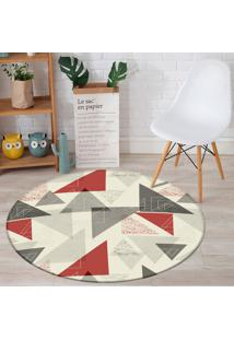Tapete Redondo Wevans Triangulo Geométricos