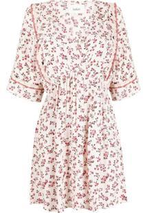 Ba&Sh Vestido Sete Com Estampa Floral - Rosa