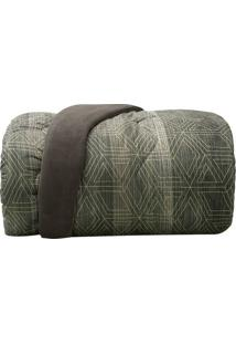 Edredom New Confort Queen Size- Cinza & Verde- 230X2Altenburg