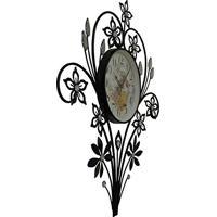 5e9595e3215 Relogio De Parede Retro Vintage Com Flores De Strass Para Decoracao