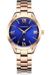 Relógio Curren Analógico C9007L - Feminino-Rose Gold