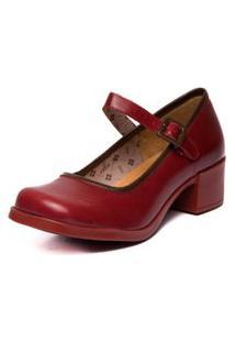Sapato Mzq Boneca Vermelho Amora / Chocolate 4906